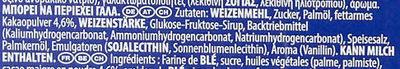 Biscuit Oreo - Inhaltsstoffe