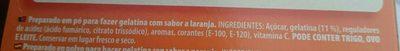 Gelatina Sabor Naranja - Ingredients