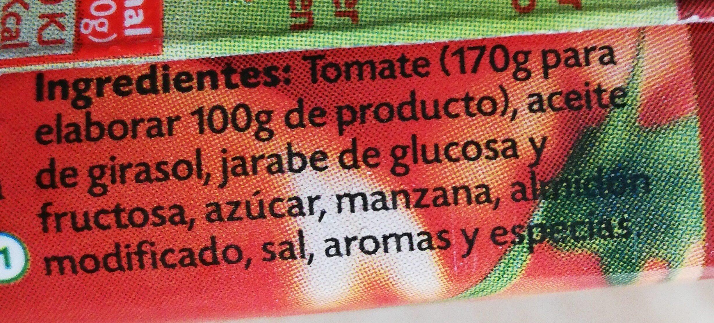Tomate frito - Ingredientes - es