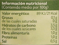 Tomate 100% natural triturado - Informations nutritionnelles