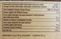 Maria - Información nutricional - fr