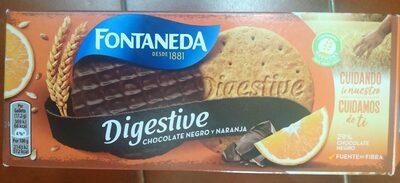 Digestive chocolate negro y naranja - Produit