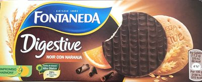 Digestive chocolate negro y naranja - Informations nutritionnelles