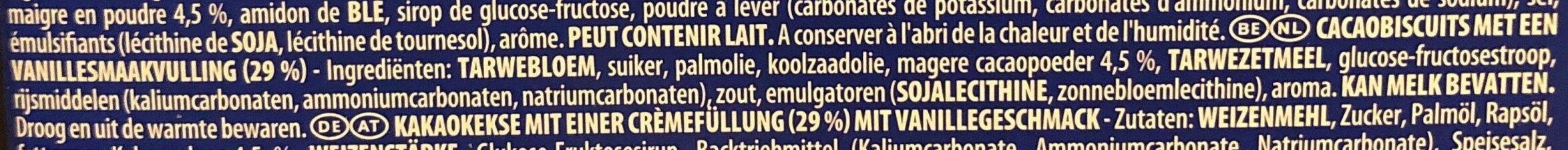 Oreo Original - Ingrediënten - nl