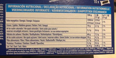 Oreo Original - Nutrition facts - fr