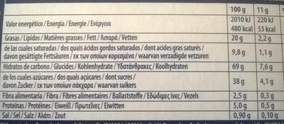 Original - Informació nutricional - fr