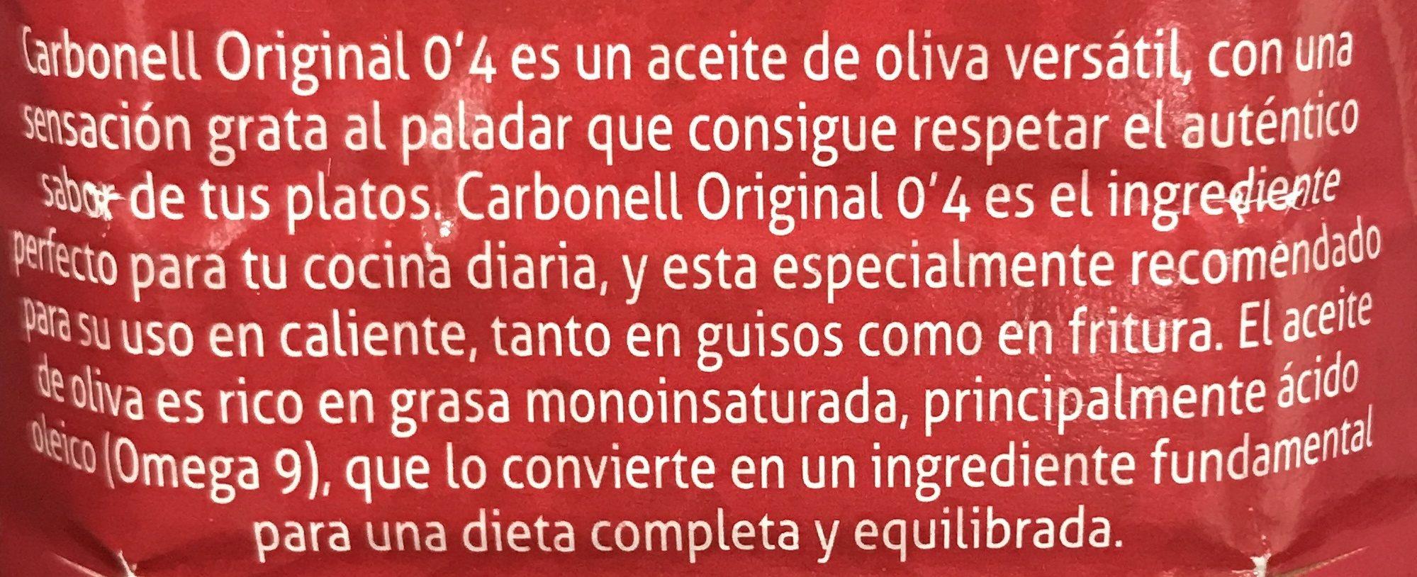 Aceite de Oliva Original 0.4 - Ingrédients - fr