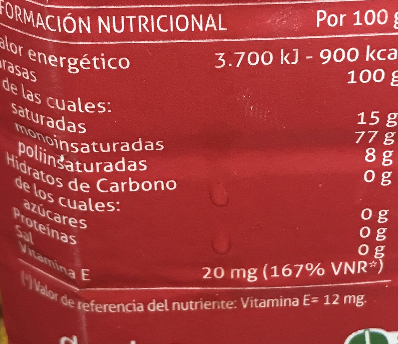 Aceite de Oliva Original 0.4 - Informations nutritionnelles - fr