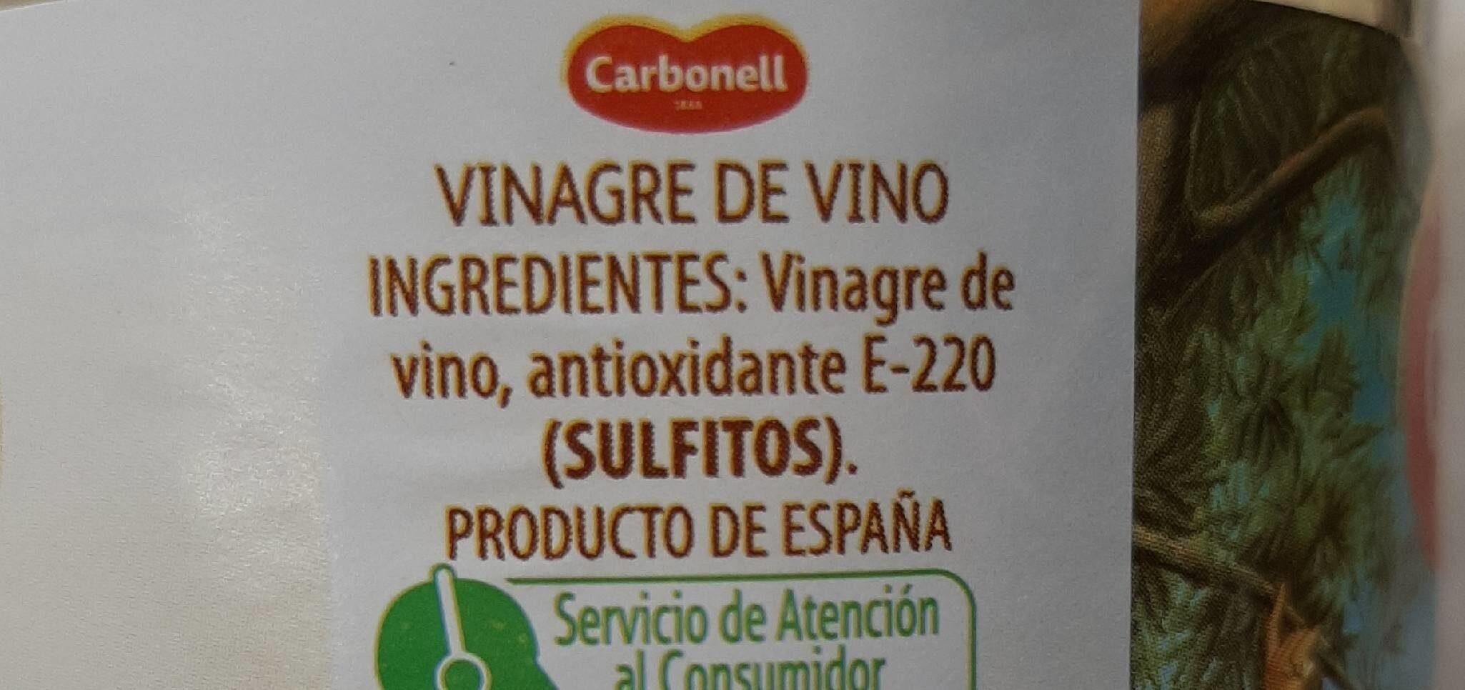 Procer vinagre de vino blanco - Informació nutricional - es