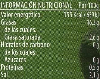 """Aceitunas negras deshuesadas variedad """"cacereña"""" - Información nutricional - es"""