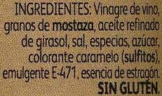 Mostaza diafana - Ingredients - es