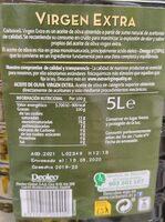 Carbonell Virgen Extra Garrafa - Informació nutricional - fr