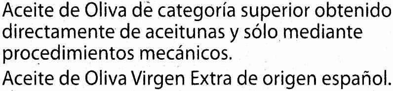 """Aceite de oliva virgen extra """"Carbonell - Ingrediënten"""