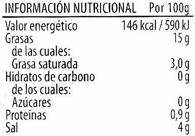 """Aceitunas verdes rellenas de pimiento """"Carbonell"""" - Voedingswaarden - es"""
