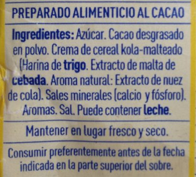 Colacao - Ingredientes - es