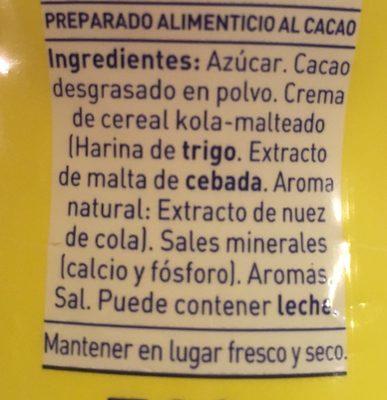 Colacao Original - Ingredients