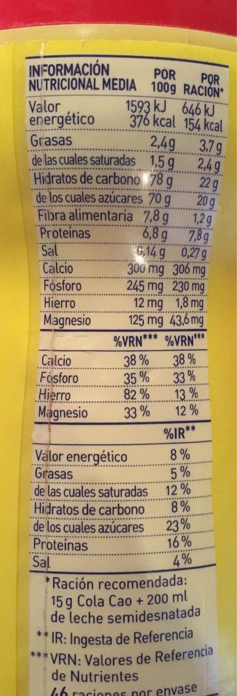 Colacao Original - Nutrition facts
