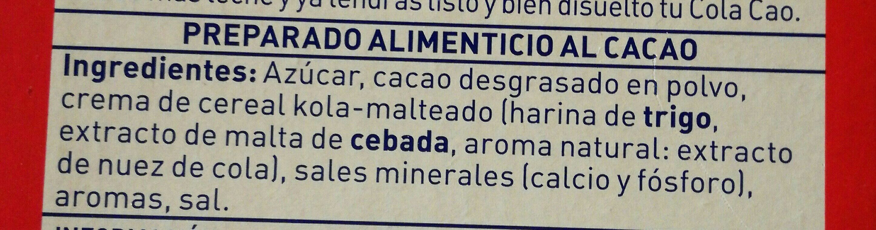 - Ingredients - es