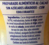Cola Cao 0% Azúcares Añadidos - Ingredientes