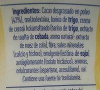 Cola Cao 0% Azúcares Añadidos - Ingrédients