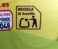 0% azúcares - Recycling instructions and/or packaging information - es