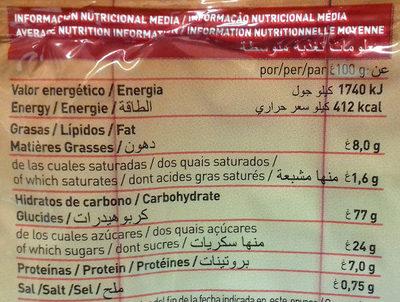 Hojaldrada - Nutrition facts