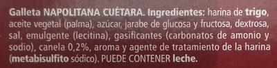 Napolitanas - Ingredientes