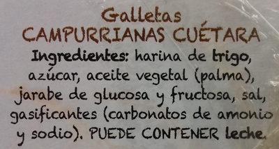 Campurrianas - Ingredientes