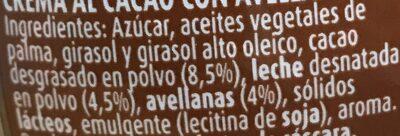 Nocilla - Ingredienti - es
