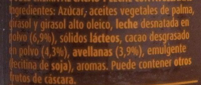 Nocilla Chocoleche - Ingredients