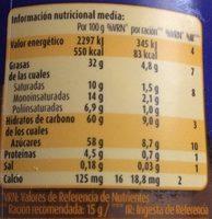 Nocilla Chocoleche - Informació nutricional