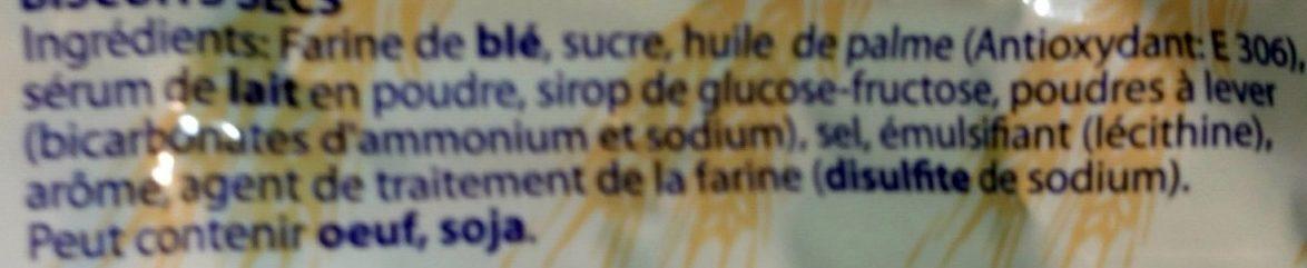 Biscuits P'tit Copain - Ingrédients - fr
