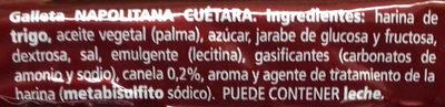 Napolitanas - Ingredients