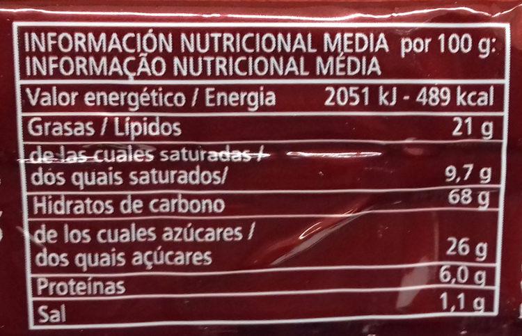 Napolitanas - Informació nutricional