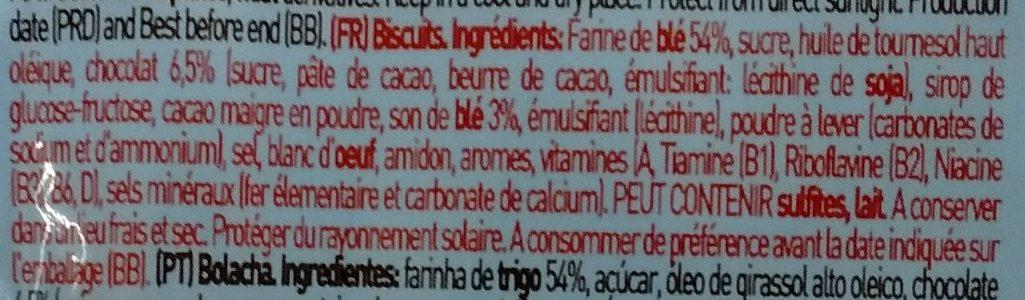 Tosta Rica Oceanix - Ingredients - fr