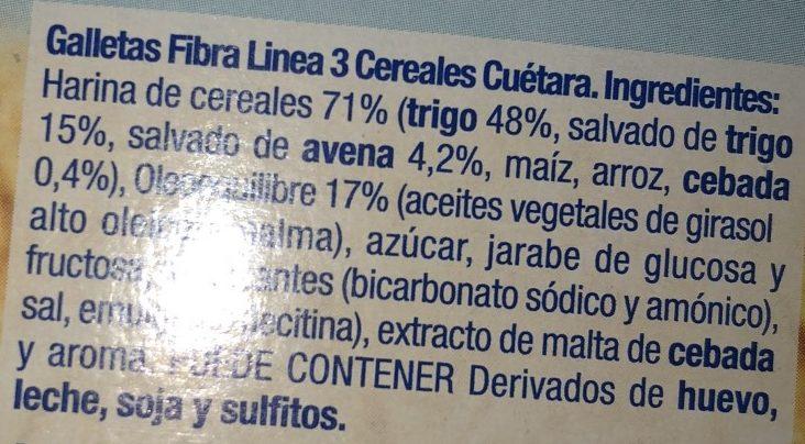 Fibra Línea 3 Cereales - Ingredients