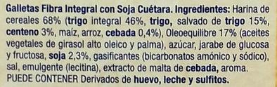 Galletas Fibra línea Integral Soja - Ingrédients - es