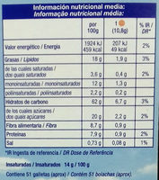 Galletas Fibra línea Integral Soja - Informations nutritionnelles - es