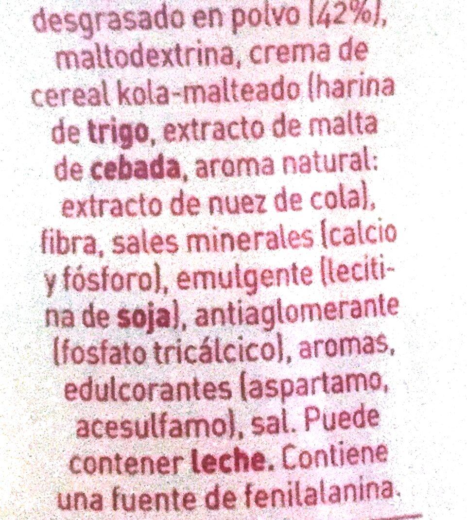 Cola Cao 0% - Ingredientes - es