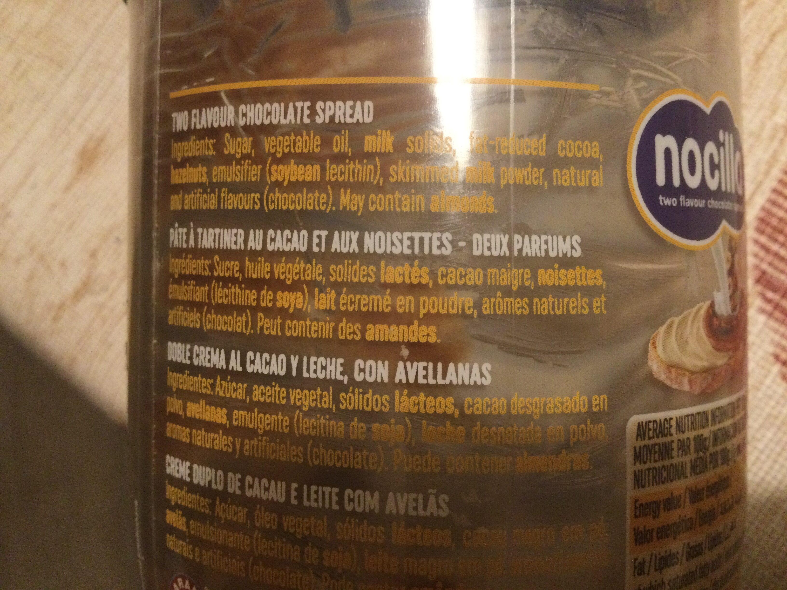 Nocilla - Ingredienti - fr