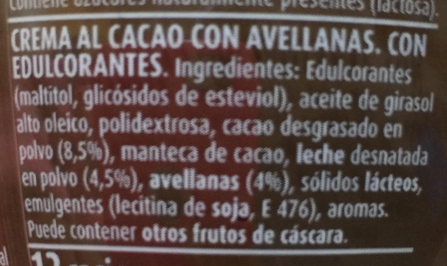 Crema de cacao - Ingrediënten - es