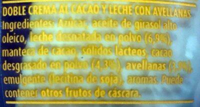 Nocilla Chocoleche - Ingrediënten - es