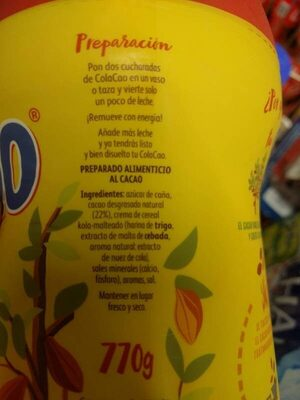 Cola Cao - Ingredientes