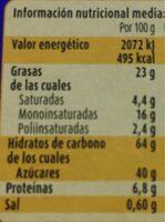 Sticks - Valori nutrizionali - es