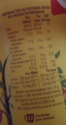 Cola Cao el original - Nutrition facts