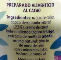 Cola Cao original - Ingredients