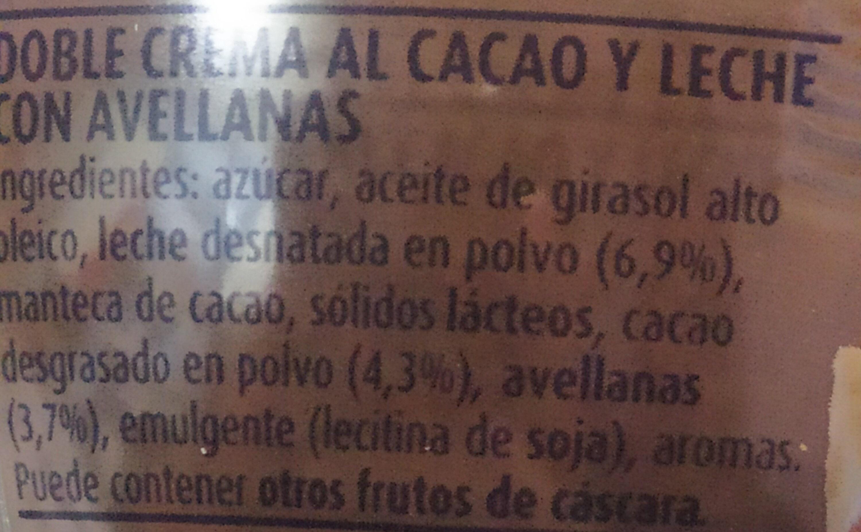 Nocilla chocoleche - Ingredienti - es