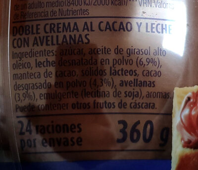 Chocoleche - Ingredienti - es