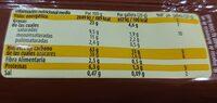 Cookies nocilla - Informació nutricional - es
