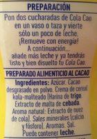 Cola Cao Original - Ingredients - es